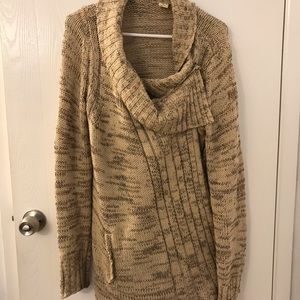 Anthropologie Sweaters - Anthropologie yellow bird wrap sweater